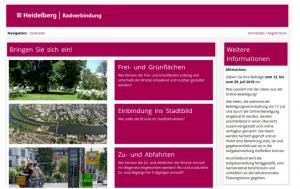 Beispiel für eine textbasierte Bürgerbeteiligung. Hier ging es um den Radverkehr in Heidelberg.