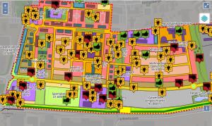 Digitale Ideenkarte bei der Online-Bürgerbeteiligung zur Umgestaltung des ehem. Kasernenareals Ray Barracks in Friedberg